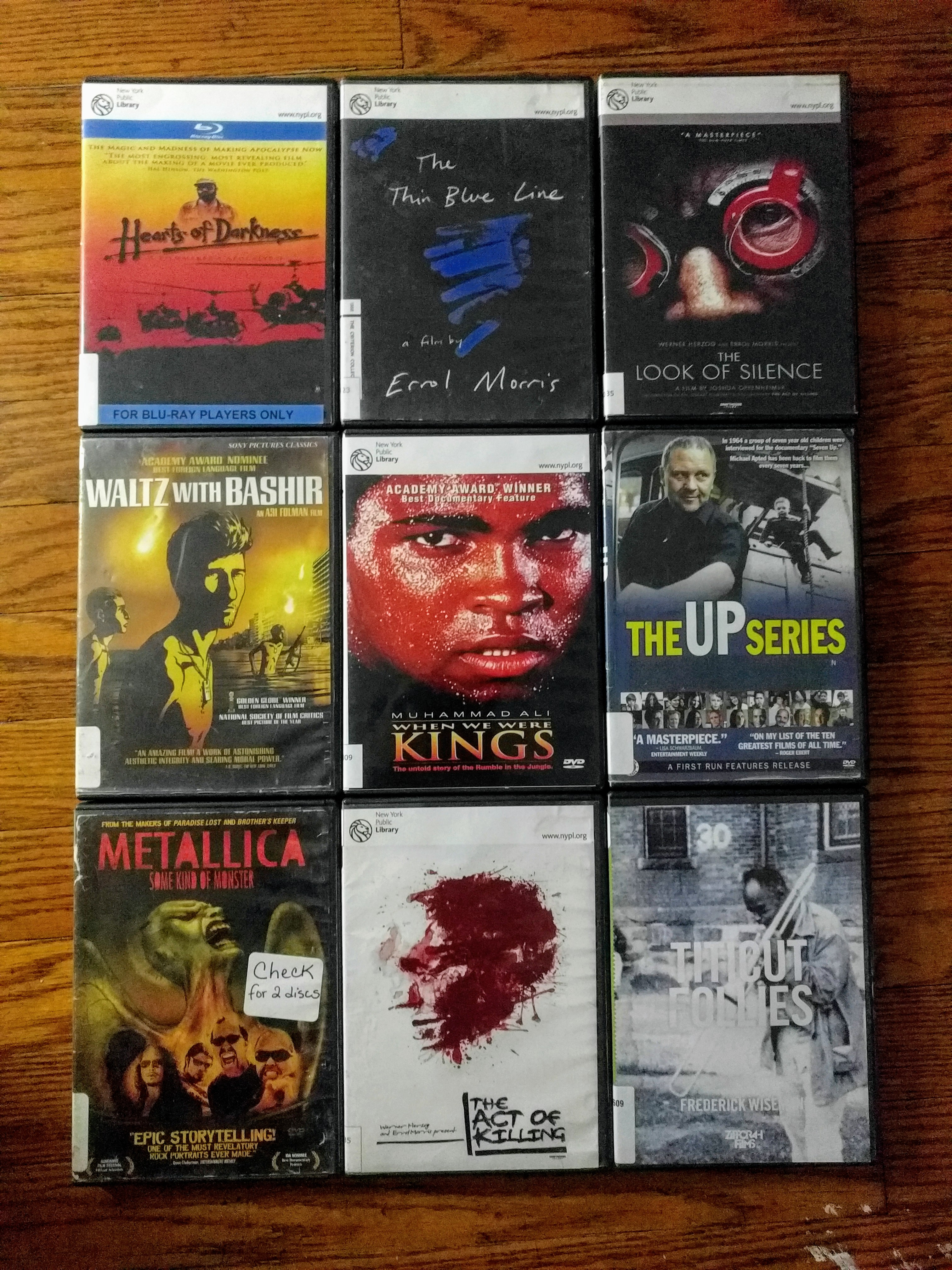 NYPL DVDs